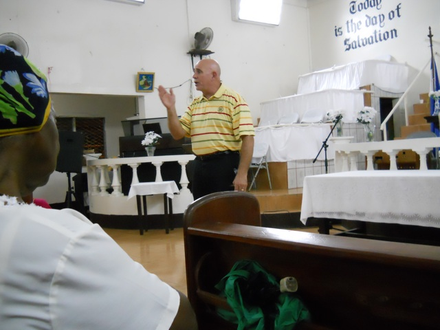 Preaching in Bluefield reduced