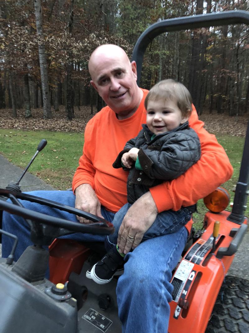 Asa on Tractor