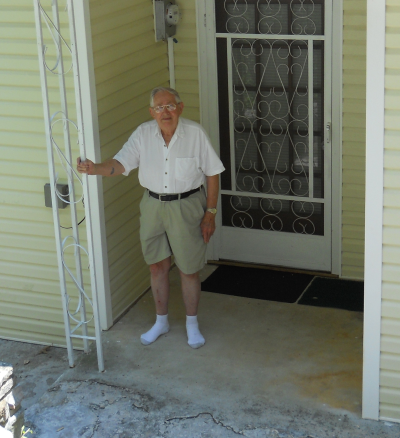 Dad on porch